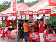 コカ・コーラのテント