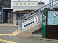スタジアムへの階段
