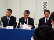 稲垣COO、徳田会長、牛尾理事長