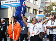 クック諸島からも参加です
