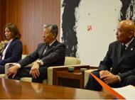 日本協会広報渡邊さん、九州協会徳田会長、九州協会城戸理事長